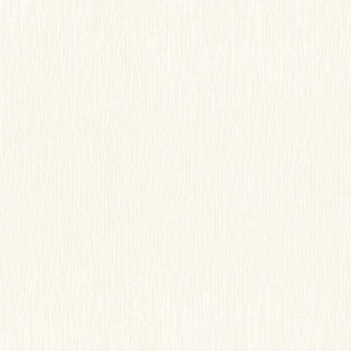 Non-Woven Wallpaper Plain Lines cream white Gloss 532807