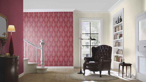 Satintapete Struktur rot Glanz Rasch Trianon 532852 online kaufen