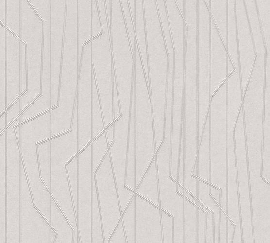 Non-Woven Wallpaper Lines grey silver Gloss 36878-2 online kaufen