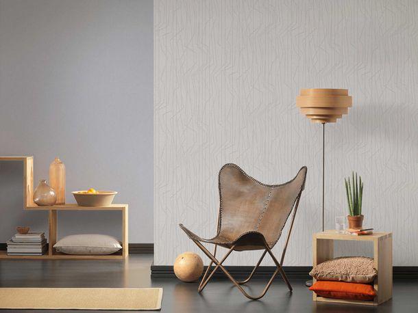 Non-Woven Wallpaper Lines grey silver Gloss 36878-2 online kaufen