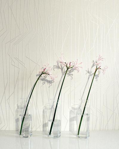 Tapete Vlies Grafik Liniert creme silber Glanz 36878-3 online kaufen
