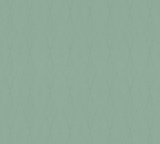 Tapete Vlies Karo Grafik grün 36879-3