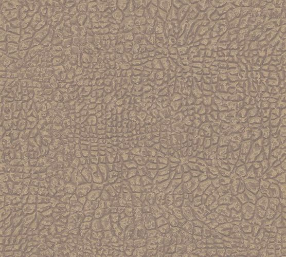 Non-Woven Wallpaper Elephant Skin brown gold Gloss 36970-1