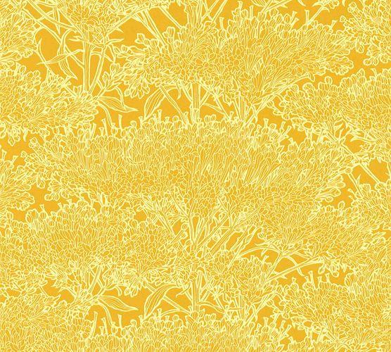 Tapete Vlies Baum Floral gelb 36972-3 online kaufen
