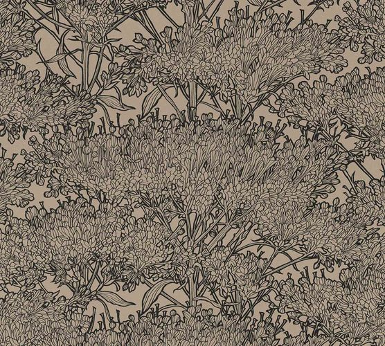 Non-Woven Wallpaper Floral Tree beige brown black 36972-5 online kaufen