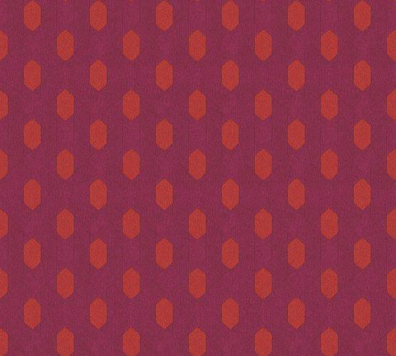 Tapete Vlies Grafik Raute pink orange 36973-1