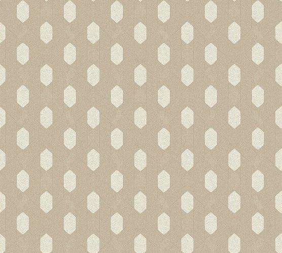 Tapete Vlies Grafik Raute taupe Metallic 36973-7 online kaufen