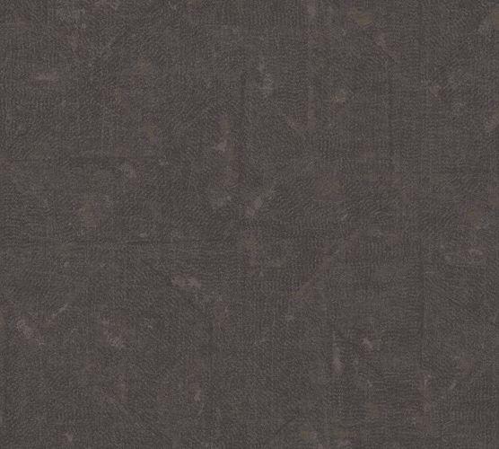 Tapete Vlies Vintage Karo dunkelbraun schwarz 36974-2 online kaufen