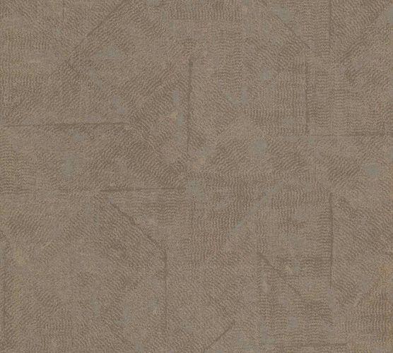 Tapete Vlies Vintage Karo braun Metallic 36974-8