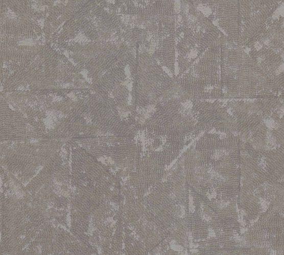 Tapete Vlies Vintage Karo braun grau Metallic 36974-9 online kaufen