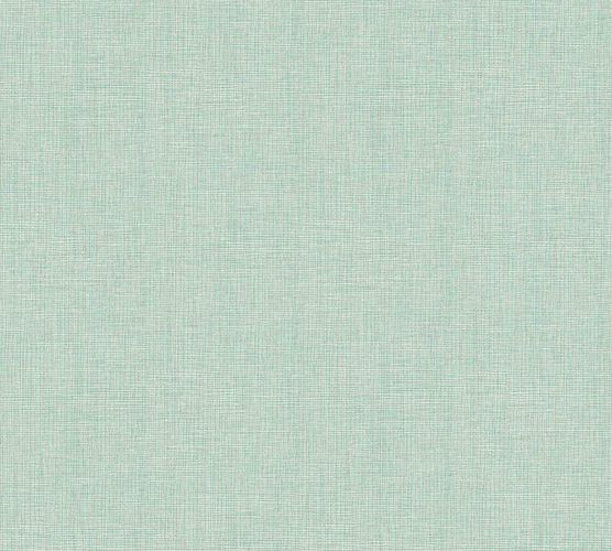Tapete Vlies Textil-Optik mint creme Metallic 36976-9