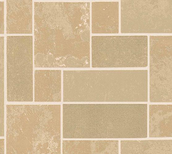 Vinyl Wallpaper Tiles Blocks beige gold Glitter 34779-1 online kaufen