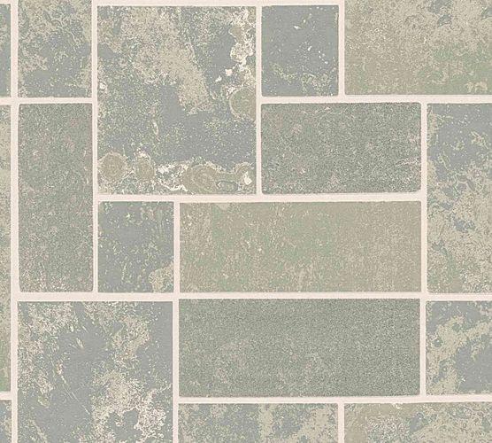 Vinyl Wallpaper Tiles Blocks grey silver Glitter 34779-2 online kaufen