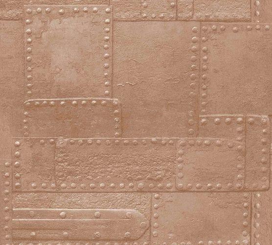 Vliestapete Metall Nieten kupfer braun Metallic 36494-2 online kaufen