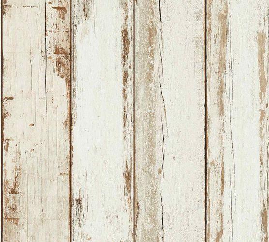 Vliestapete Used Look Holzpaneel creme 36893-1