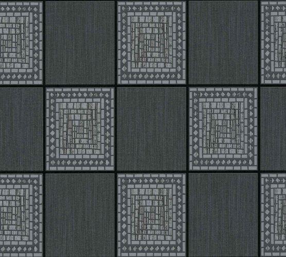 Vinyl Wallpaper Tiles Mosaic anthracite silver 9348-92 online kaufen