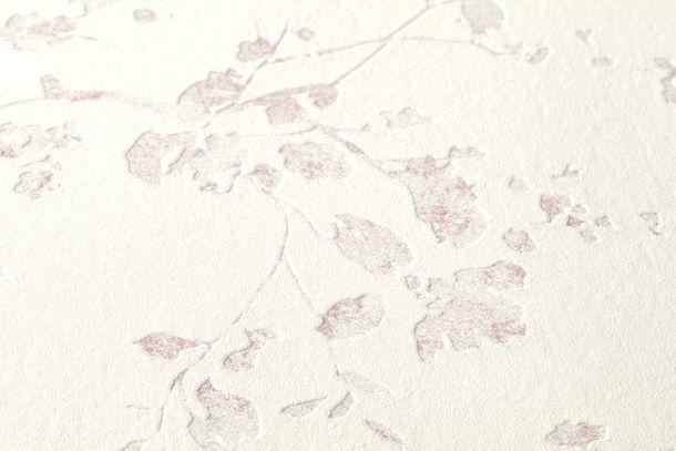 Vliestapete Floral Ranken weiß rosa Glanz 36896-1 online kaufen