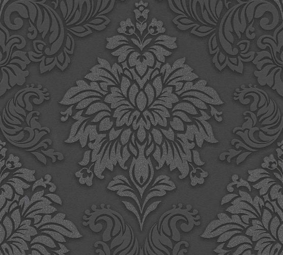Non-Woven Wallpaper Baroque black anthracite Glitter 36898-4 online kaufen