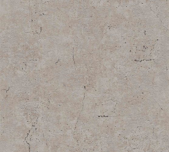 Non-Woven Wallpaper Concrete Vintage brown grey brown Gloss 36911-1