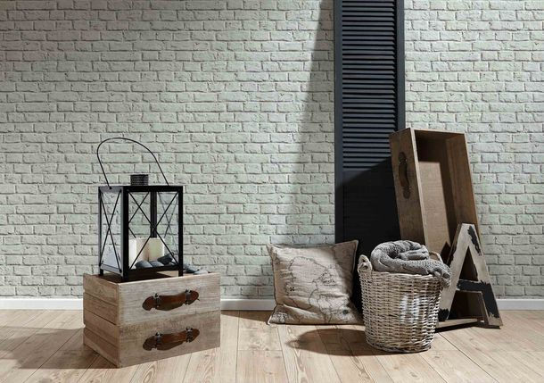 Non-Woven Wallpaper Stone Wall grey 36912-2 online kaufen
