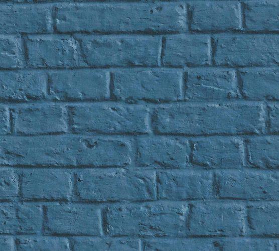 Vliestapete Steinmauer blau 36912-3