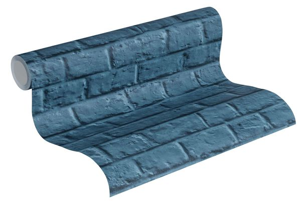 Vliestapete Steinmauer blau 36912-3 online kaufen