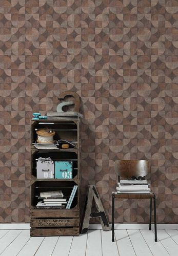 Non-Woven Wallpaper Wood Retro brown 36913-1 online kaufen