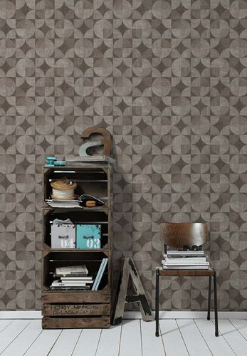 Non-Woven Wallpaper Wood Retro grey 36913-2 online kaufen