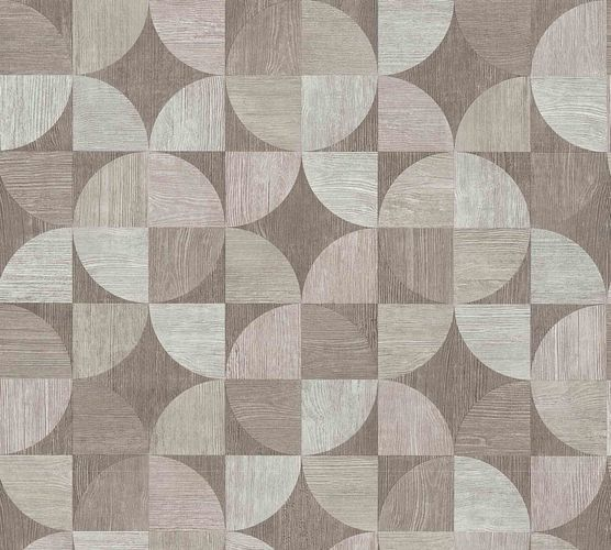 Non-Woven Wallpaper Wood Retro grey 36913-3