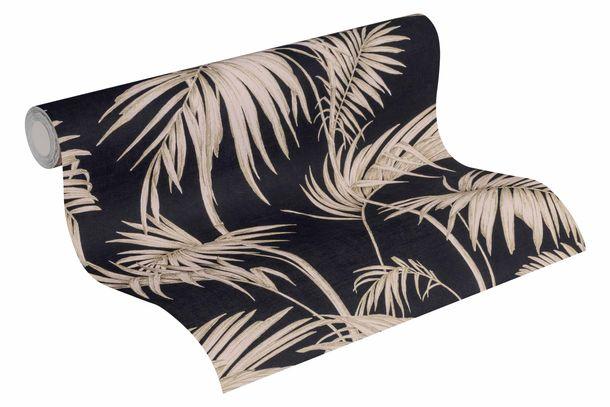 Vliestapete Bambus Blätter schwarz rosa 36919-1 online kaufen