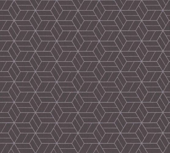 Non-Woven Wallpaper Graphic Cubes brown black Glitter 36920-1 online kaufen