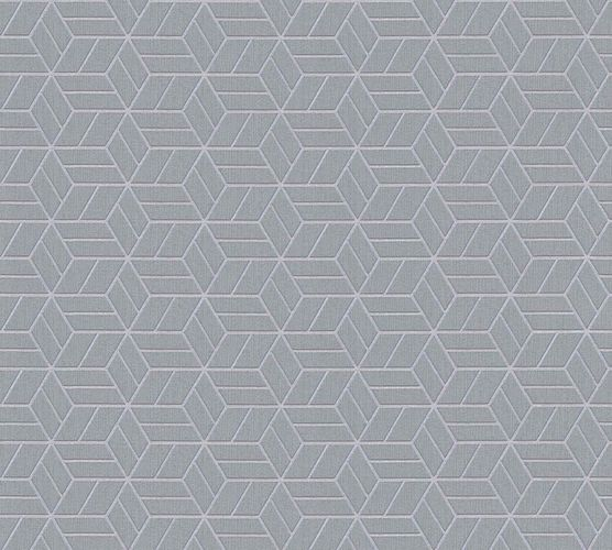 Non-Woven Wallpaper Graphic Cubes blue grey silver Glitter 36920-4 online kaufen