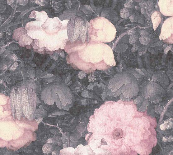 Vliestapete Blumen Vintage grau rosa 36921-2 online kaufen