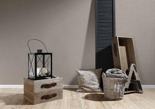 Vliestapete Uni Textil-Optik taupe 36922-4 online kaufen