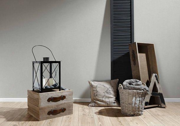 Vliestapete Uni Textil-Optik hellgrau 36925-5 online kaufen