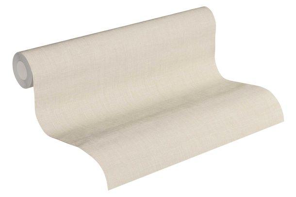 Vliestapete Uni Textil-Optik creme 36925-6 online kaufen