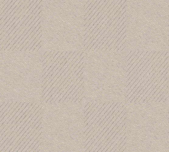Non-Woven Wallpaper Graphic Rhombuses beige cream Gloss 36926-2 online kaufen