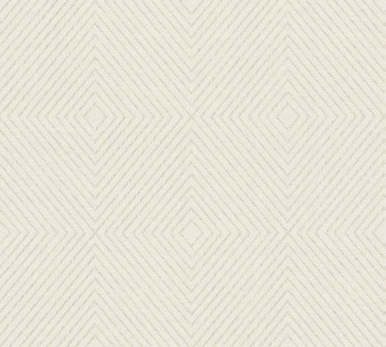 Non-Woven Wallpaper Graphic Rhombuses cream white cream Gloss 36926-3 online kaufen