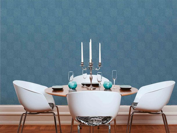 Non-Woven Wallpaper Graphic Rhombuses blue Gloss 36926-4 online kaufen