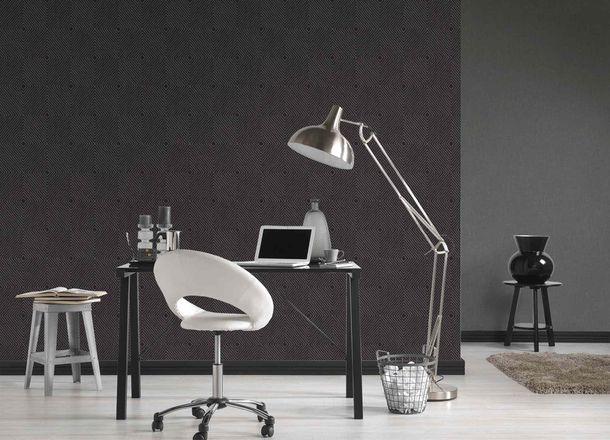 Non-Woven Wallpaper Graphic Rhombuses black grey Gloss 36926-5 online kaufen