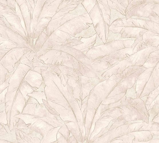 Non-Woven Wallpaper Leaves Fern cream beige Gloss 36927-2 online kaufen