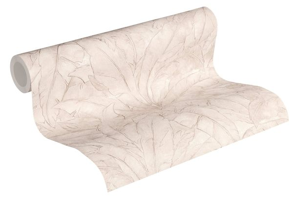 Non-Woven Wallpaper Leaves Fern cream beige Gloss 36927-2 online kaufen