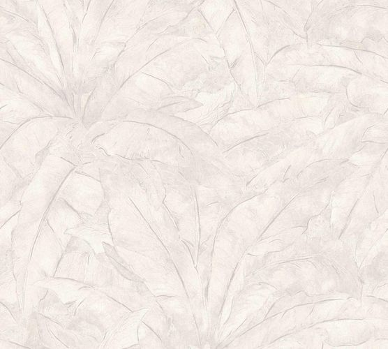 Non-Woven Wallpaper Leaves Fern cream white grey Gloss 36927-4 online kaufen