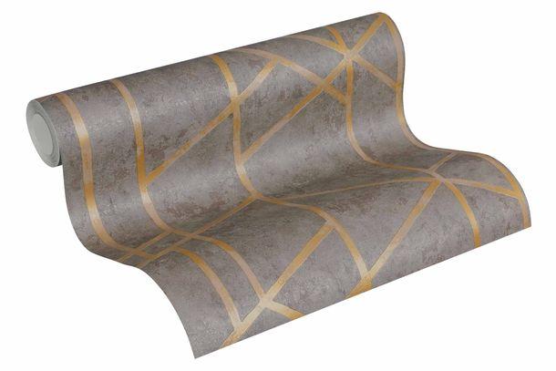Non-Woven Wallpaper Concrete Graphic grey Gloss 36928-1 online kaufen