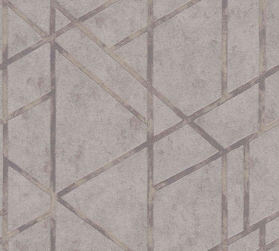 Non-Woven Wallpaper Concrete Graphic grey beige Gloss 36928-2