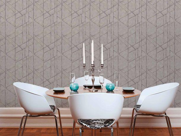 Non-Woven Wallpaper Concrete Graphic grey beige Gloss 36928-2 online kaufen