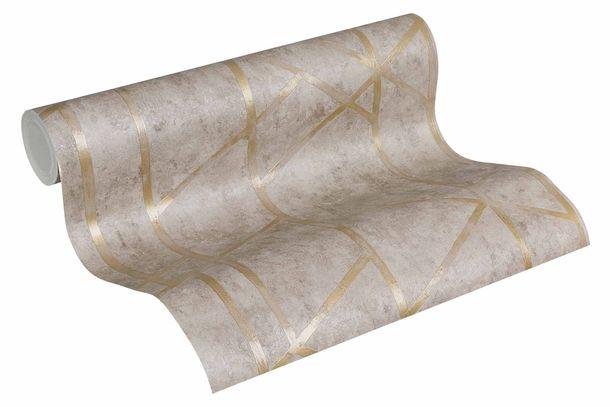 Vliestapete Beton Grafik taupe gold Glanz 36928-3 online kaufen