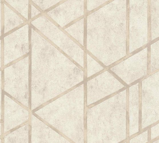 Non-Woven Wallpaper Concrete Graphic cream beige Gloss 36928-4