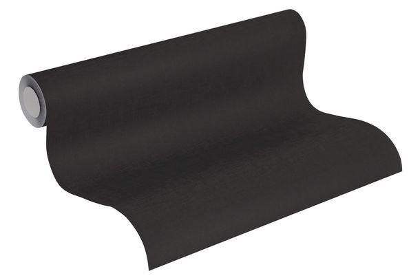 Non-Woven Wallpaper Uni Textile Look black 36932-2 online kaufen