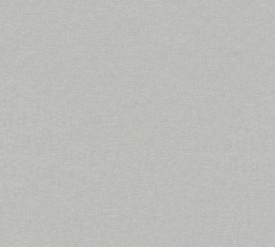 Non-Woven Wallpaper Uni Textile Look silver Gloss 36932-3